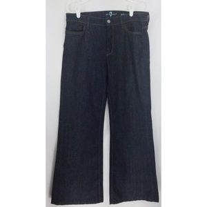 7 For All Mankind Low Rise Ginger Flare Dark Wash